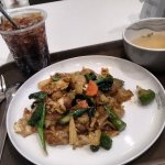 Freshly cooked lunch at the food court, Emquartier. sukhumvit 31 Phrom Phong skytrain station