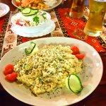 Шопский салат, Ризотто с курицей и горгонзолой, Шницель с гарниром