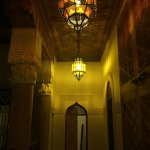 Nighttime in the Riad Siwan.