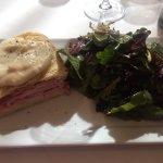 Croque Monsieur & Arugula salad w/ the best vinaigrette ever!