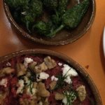 Padron peppers and beetroot borani