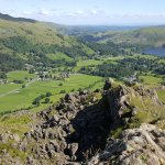 Looking towards Grasmere from the summit...