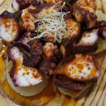 pulpo a la gallega - octopus - poulpe mode Galice