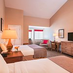 Superior Double Queen Guestroom, spacious with cathedral ceilings