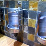 The Unique Keg Urinal Trio at Mitchell's Ale House