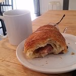 This is the prosciutto provolone croissant!