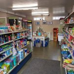 Inside the shop, Its well stocked and the will order meat, baked goods and veg in for you and al