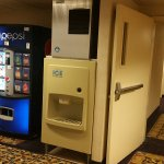 Beverage center in hallway