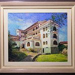 Pintura de la antigua construcción del hotel - Painting of the old building