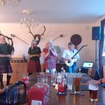 """Entertainment from city of Leeds pipe band or """"the Fu Pipers"""""""
