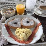 Adorable and yummy breakfast