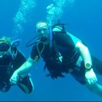 Jennifer and David completing their PADI Certified Open Water Dive