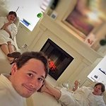Girls enjoyed a glass of wine before relaxing evening at the SPA :)