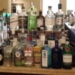 Some of the many gins, including many from Ireland