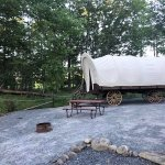 Brand new replica Conestoga Wagon for 2017!  Available for nightly rental!