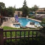 Hampton Inn Harrisburg East - pool in back