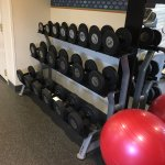 Hampton Inn Harrisburg East - exercise room (weights)