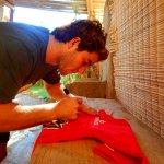 jeese richan el camperon del planta del kite surf en 50nudos ,se hospeda por nuestra trayectoria