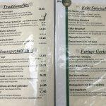 Auszug aus der Speisekarte. 18 Euro für ein Wiener ist zu viel