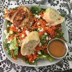 Redbud salad with grilled chicken