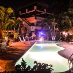 Casamar Suites Pool at night