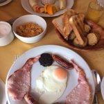 Full Irish Breakfast and Fruit Platter with yoghurt