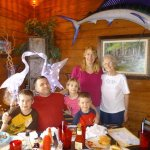 My Illinois family and I visiting a favorite place to eat