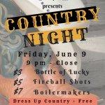 Friday June 9 Country Night @ CVI!!!