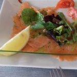 Entrée, saumon frais