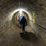 Walking along one of the old steam tunnels