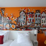 Artistic bedroom wall