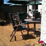 Lovely outdoor patio, a real sun trap, for drinks and alfresco dining