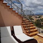 Our Private Sun terrace - with another secluded one up those steps