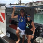 Paul and Cornelia on their Dive Boat