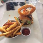 Lobster Burger with Fries