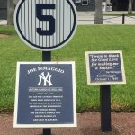 One of the plaques for retired numbers.