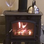lovely wood burning stove on arrival