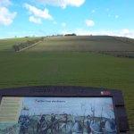 Interpretative Board at Flodden Battlefield, facing the ridge that the Scots occupied