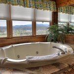 Oversize tubs with a view are featured in most of our mountaintop villas!