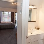 bathroom of one bedroomed unit, on first floor.  Other beds are down the stairs.  Stairs quite s
