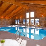 The heated indoor pool and hot tub are great ways to relax!