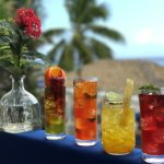Mocktails crafted with local juices.