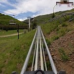 Alpine Coaster... automatic up, then freefall down..