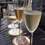 mixed wine and champagne flight