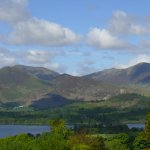 View across Derwentwater from Castlerigg Hall Caravan and Camping site