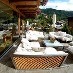 Lounge area outside.
