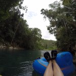 feet up while tubing