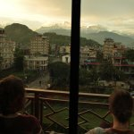 Watching the sunset over the Himalaya