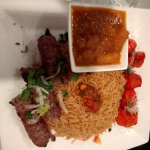 Beef and Chicken Kabob Combo