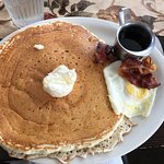 Bacon, egg and a HUGE pancake!